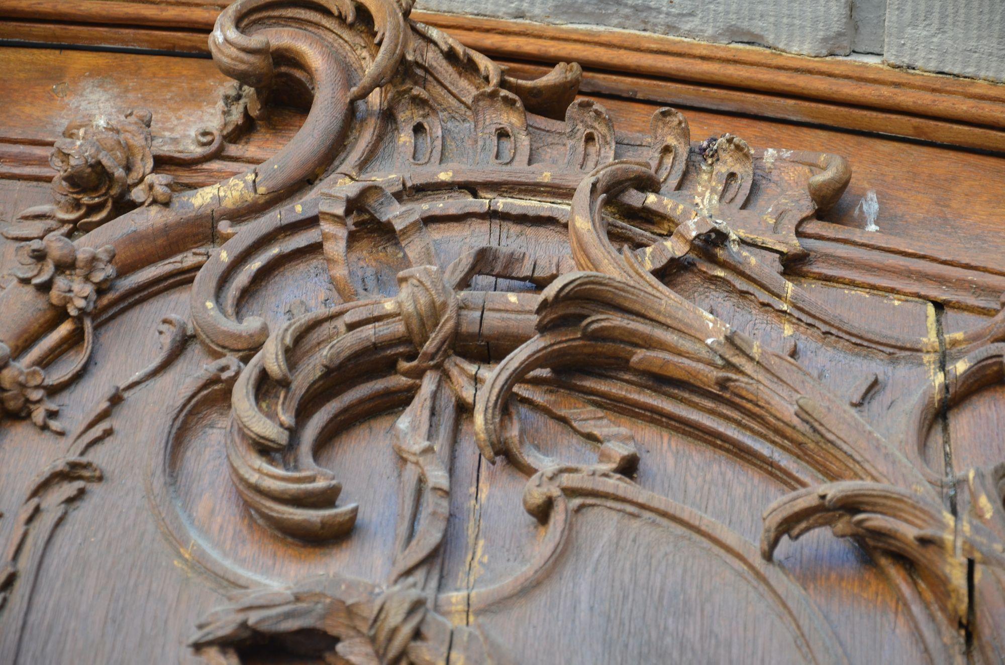 Rokoko Portal Schloss Wilhelmsthal Vorzustand